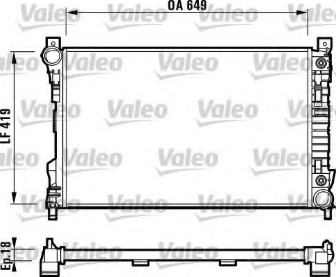 Радиатор охлаждения MERCEDES (пр-во VALEO)                                                           VALEO 732740