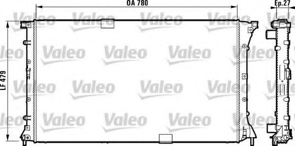 Радиатор охлаждения OPEL, RENAULT (пр-во VALEO)                                                      VALEO 732911