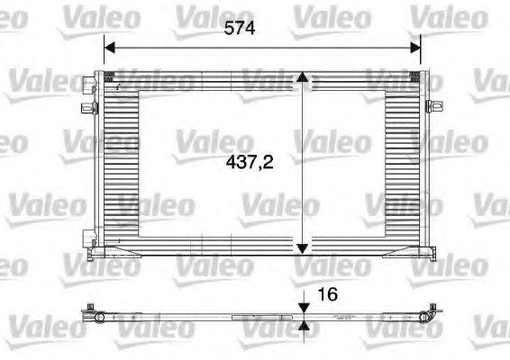 Радіатор кондиціонера VALEO 817577