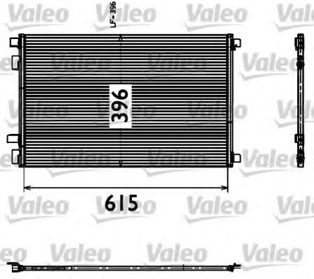 Радіатор кондиціонера VALEO 817608