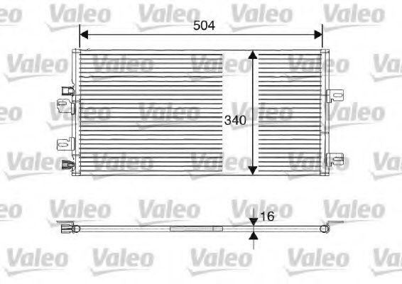 Радіатор кондиціонера VALEO 817687
