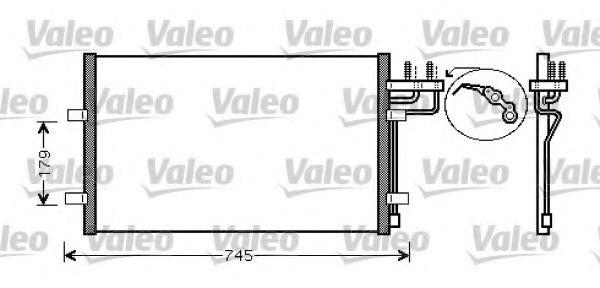 Радіатор кондиціонера VALEO 818046
