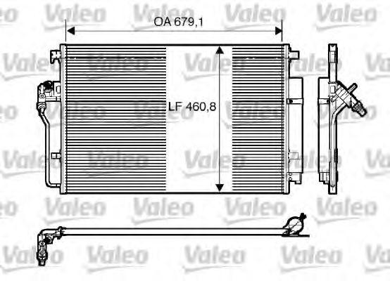 Радіатор кондиціонера VALEO 818173