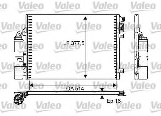 Радіатор кондиціонера VALEO 814051