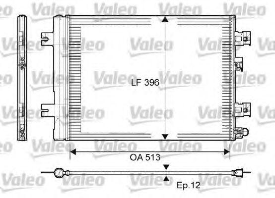 Радіатор кондиціонера VALEO 814077