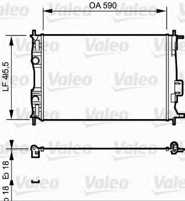 Радиатор охлаждения NISSAN QASHQAI (J10) (07-) 1.6 (пр-во VALEO)                                     VALEO 735119
