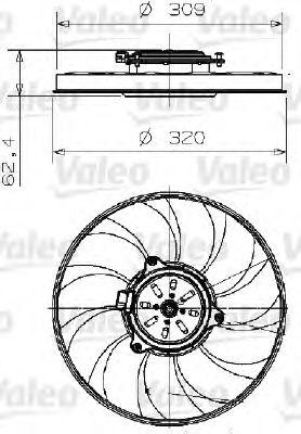 Вентилятор, охлаждение двигателя  арт. 696003