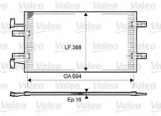 Радіатор кондиціонера VALEO 814171