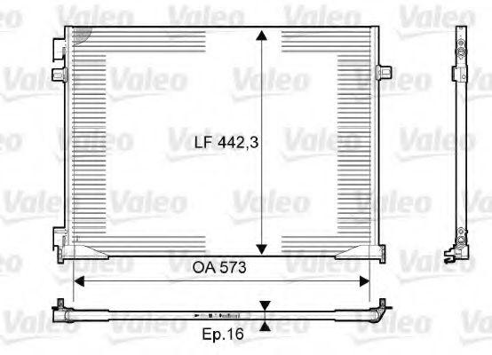 Радіатор кондиціонера VALEO 814172