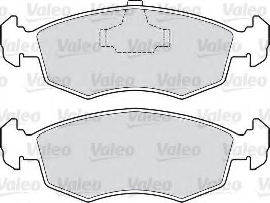 Комплект тормозных колодок, дисковый тормоз  арт. 598120