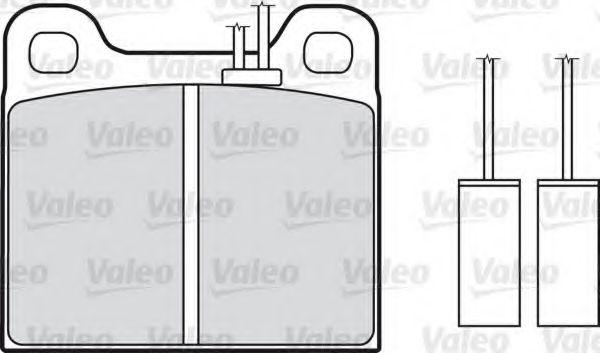 Комплект тормозных колодок, дисковый тормоз  арт. 598113