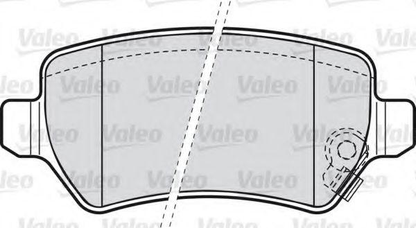 Комплект тормозных колодок, дисковый тормоз  арт. 598584