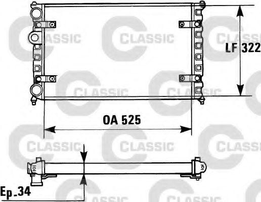 Радиатор охлаждения SEAT, VW (пр-во VALEO)                                                           VALEO 230947