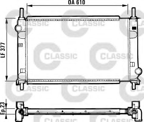 Радиатор охлаждения FORD (1-й сорт)(пр-во VALEO)                                                     VALEO 231550