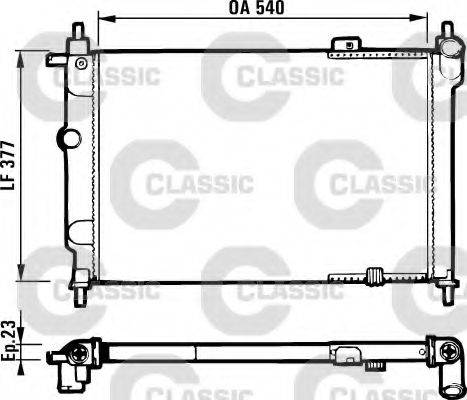 Радиатор охлаждения OPEL ASTRA F 91-98 (пр-во VALEO)                                                 VALEO 231551