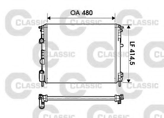 Радиатор охлаждения DACIA (пр-во VALEO)                                                              VALEO 232621