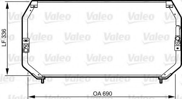 Конденсатор кондиционера TOYOTA (пр-во VALEO)                                                        VALEO 814246