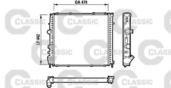 Радиатор охлаждения RENAULT (пр-во VALEO)                                                            VALEO 231910