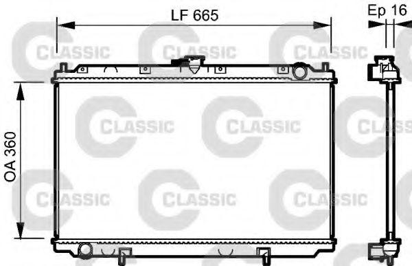 Радиатор охлаждения NISSAN PRIMERA (P11, W11) (96-) (пр-во VALEO)                                    VALEO 232528