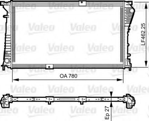 Радиатор охлаждения NISSAN; OPEL; RENAULT (пр-во VALEO)                                              VALEO 734931