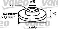 Тормозной диск  арт. 186155