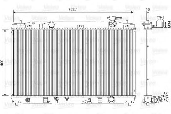 Радиатор охлаждения TOYOTA CAMRY (XV4) (07-) 2.4 i (пр-во VALEO)                                     VALEO 701595