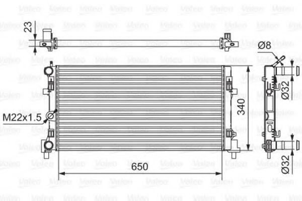 Радиатор охлаждения SKODA Rapid 12- MT/AT (пр-во VALEO)                                              VALEO 701522