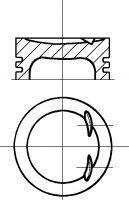 Поршень в комплекте на 1 цилиндр, 1-й ремонт (+0,40) NÜRAL арт. 8714240600