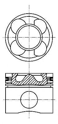 Поршень двигателя MB 88,50 OM646/647/648 d30 (пр-во NURAL)                                           NÜRAL 8713640700
