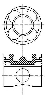 Поршень двигателя FIAT 69,60 1,3TD 16V 03- (пр-во Nural)                                             NÜRAL 8713760000
