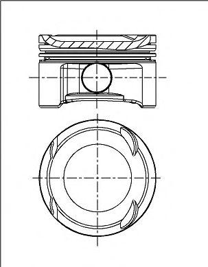 Поршень двигателя FORD 79.0 1.6 ZETEC-SE FYDA/FYDB (пр-во NURAL)                                     NÜRAL 8714130000