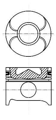 Поршень двигателя MB 88,00 OM611/612/613 d30  (пр-во NURAL)                                          NÜRAL 8711790000