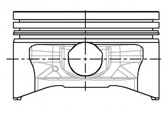 Поршень двигателя FORD 74,50 1,3 OHV 92- (пр-во NURAL)                                               NÜRAL 8778500700