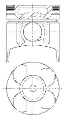 Поршень двигателя OPEL 79.0 Y17DT/Y17DTL PIN 27X64 (пр-во NURAL)                                     NÜRAL 8730760040