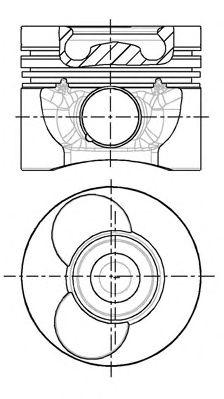 Поршень двигателя MB MB 89.00 2.9TDI OM602DE29LA 94- (пр-во Nural)                                   NÜRAL 8774310000