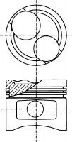 Поршень двигателя OPEL 76,00 C 1.3 N  (пр-во NURAL)                                                  NÜRAL 8730631100