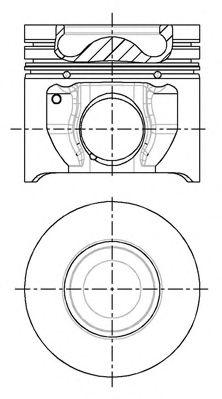 Поршень двигателя FORD 90.4 TRANSIT 2.4 TDCI H9FA 2004- (пр-во NURAL)                                NÜRAL 8714810730