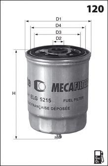 ELG5304 Фільтр палива ( аналогWF8327/KC179)  арт. ELG5304