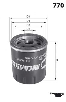 ELH4120 Фільтр оливи ( аналогWL7129/OC90)  арт. ELH4120