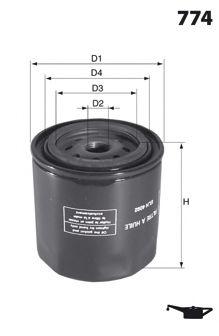 ELH4409 Фільтр оливи ( аналогWL7443/OC570)  арт. ELH4409