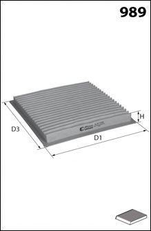 ELR7159 Фільтр салону ( аналогWP9026/LA131)  арт. ELR7159
