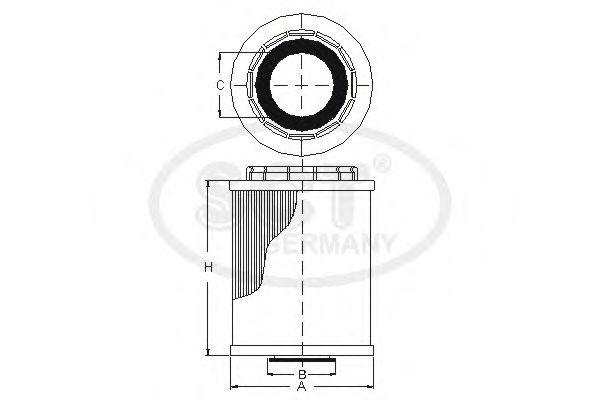 Oil filter sctgermany SH454P