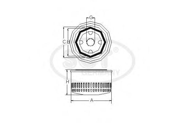 Фільтр масляний SCT SM101