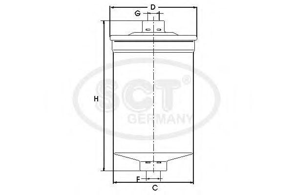 Фильтр топливный SCTGERMANY ST343