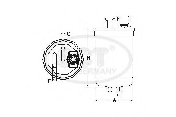 Fuel filter sctgermany ST775