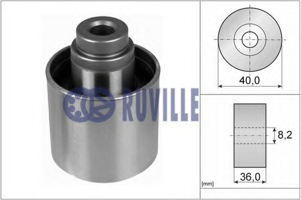 Guide Pulley, timing belt RUVILLE 55735