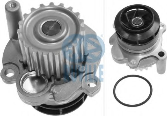 (Заміна для 65409/65432/65433/65434)Водяна помпа VAG/Seat/Skoda 1.9TDI, 2.0TDI 09.95- RUVILLE 65437