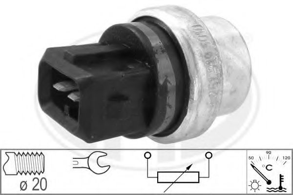 Датчик, температура охлаждающей жидкости (пр-во ERA)                                                  арт. 330103