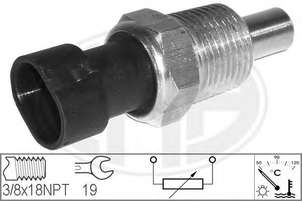 Датчик, температура охлаждающей жидкости (пр-во ERA)                                                  арт. 330117