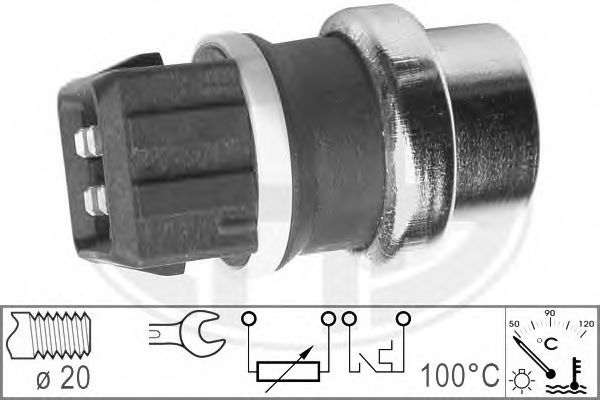 Датчик температуры охлаждающей жидкости  арт. 330152